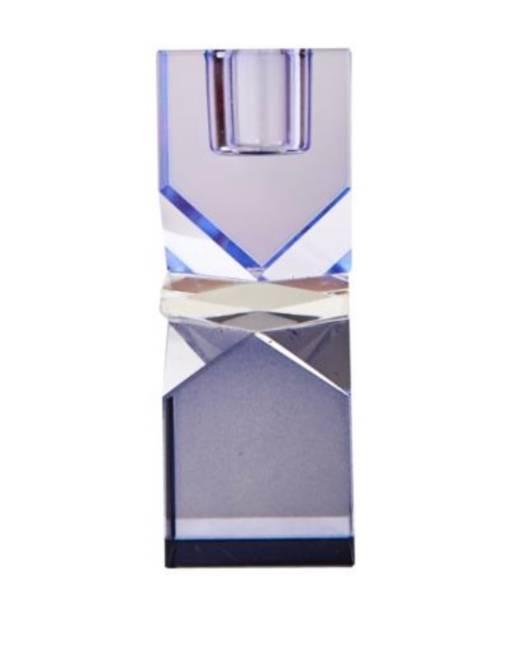 Bilde av Blå klar blå krystal lysestake