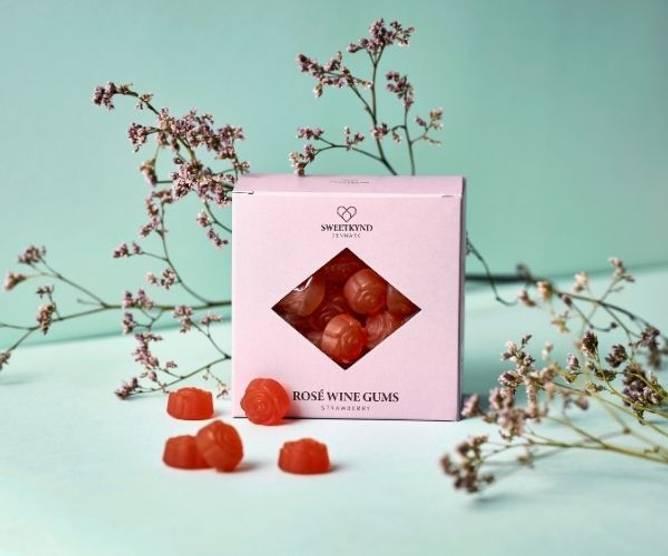 Bilde av Jordbær økologisk rosé vingummi