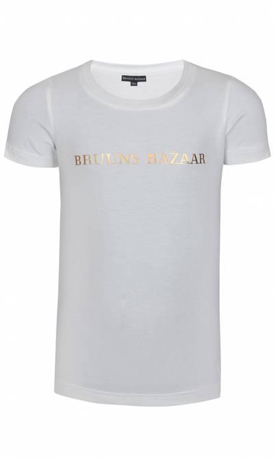 Bilde av Hvit t-skjorte med gull skrift