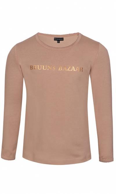Bilde av Beige genser med gull skrift