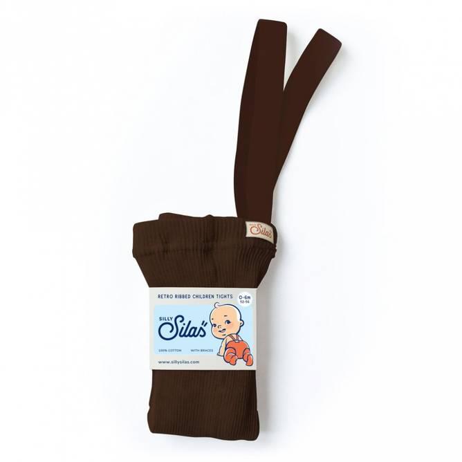 Bilde av Chocolate brown strømpebukse/m seler