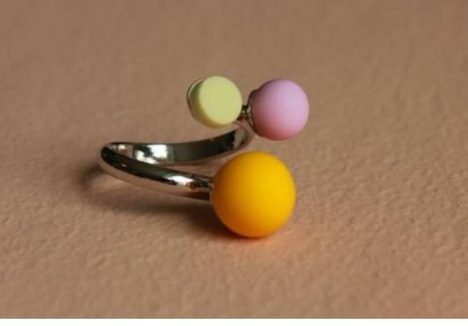 Bilde av Triple candy ring citron
