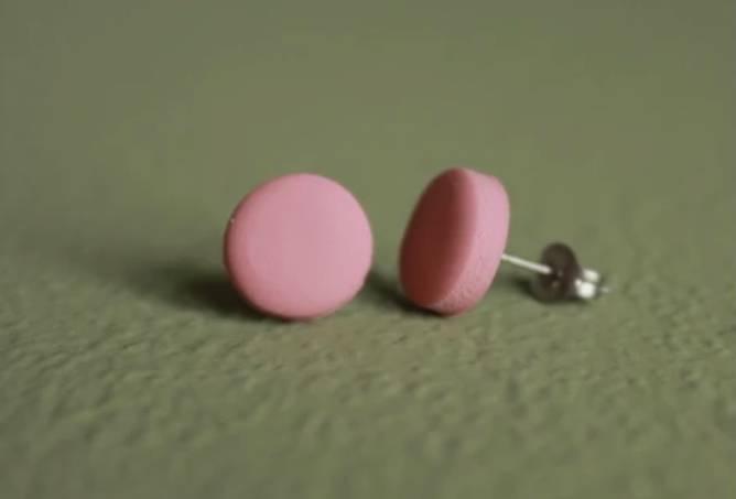 Bilde av Dot rosa øredobber